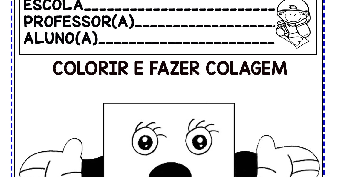 ATIVIDADES FIGURAS OU FORMAS GEOMÉTRICAS PARA COLORIR E