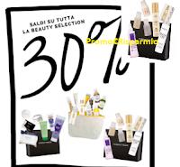Logo Saldi del 30% su tutta le Beauty Selection ma solo per poco