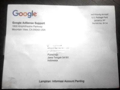 Cara Verifikasi Alamat (PIN) Google Adsense