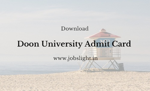 Doon University Admit Card 2017