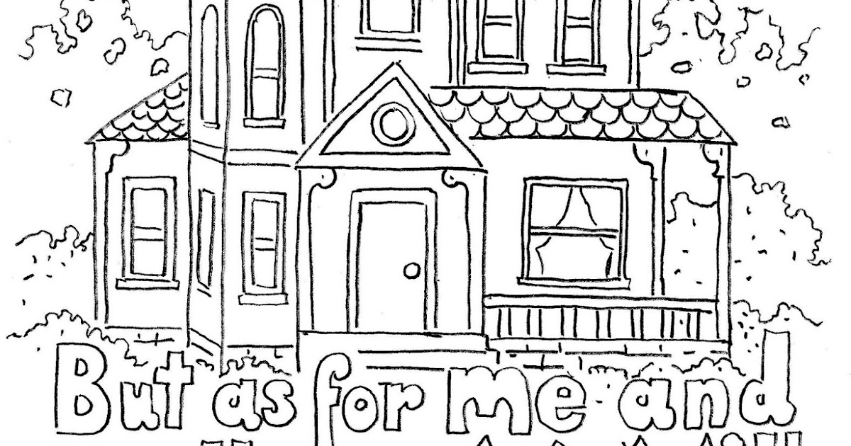 Coloring Pages for Kids by Mr. Adron: Joshua 24:15 Print