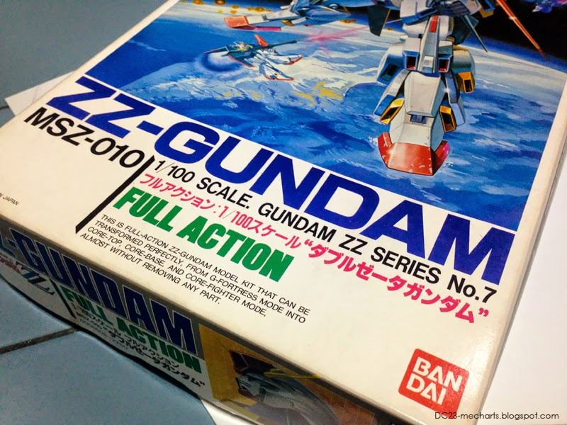 1996 Bandai 1/100 Full Action ZZ Gundam