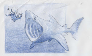 Jonah and the whale sketch