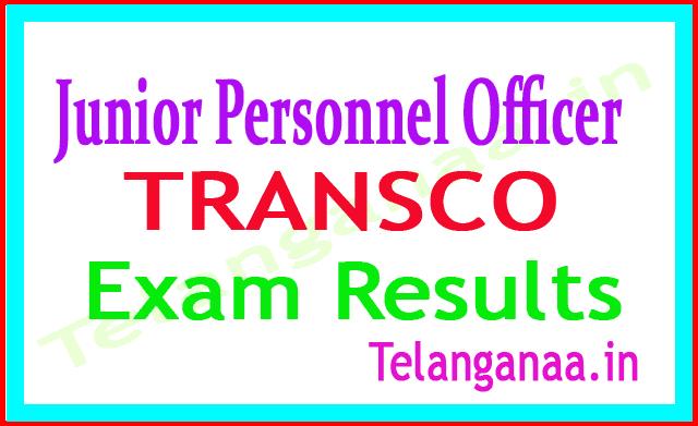 TRANSCO Telangana Junior Personnel Officer 2018 Exam Results