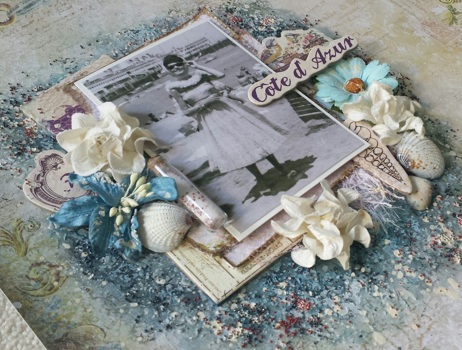 Mixed Media Memories Quot French Riviera Quot Layout Video