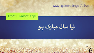 Happy New Year in Urdu Language نیا سال مبارک ہو Gradient Effect