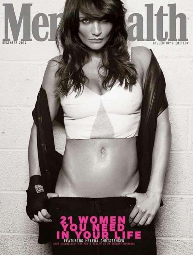 Helena Christensen poses for Men's Health UK December 2014
