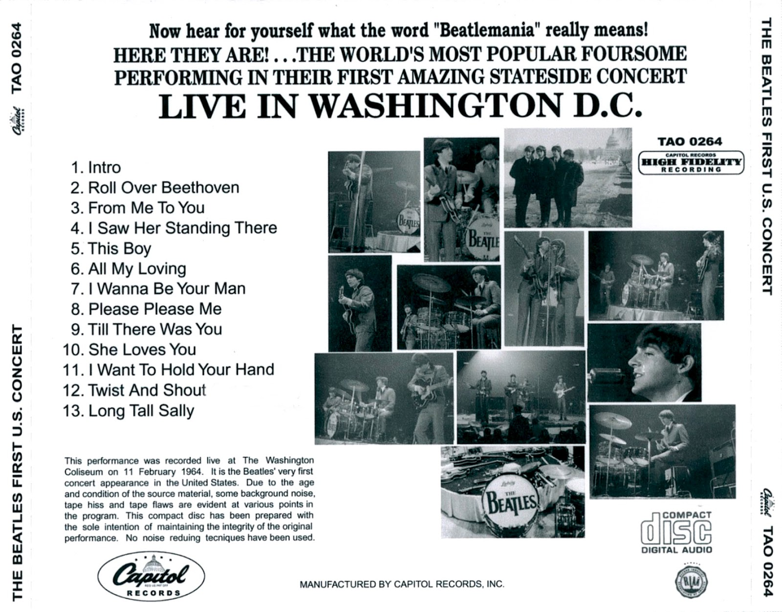 RELIQUARY: Beatles, The - First U S  Concert (Dr  Ebbetts Unreleased