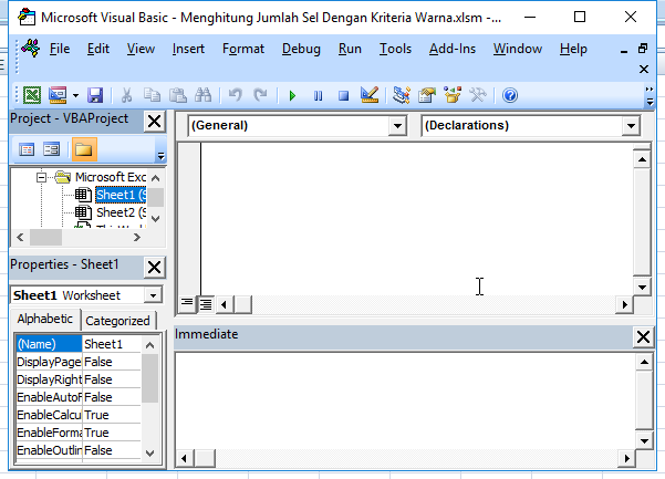 window vba excel