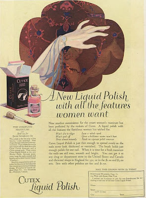 Cutex advert 1924 new liquid polish