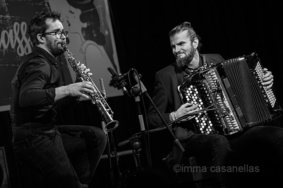 Émile Parisien i Vincent Peirani a la Nova Jazz Cava, 8 de marçc de 2018