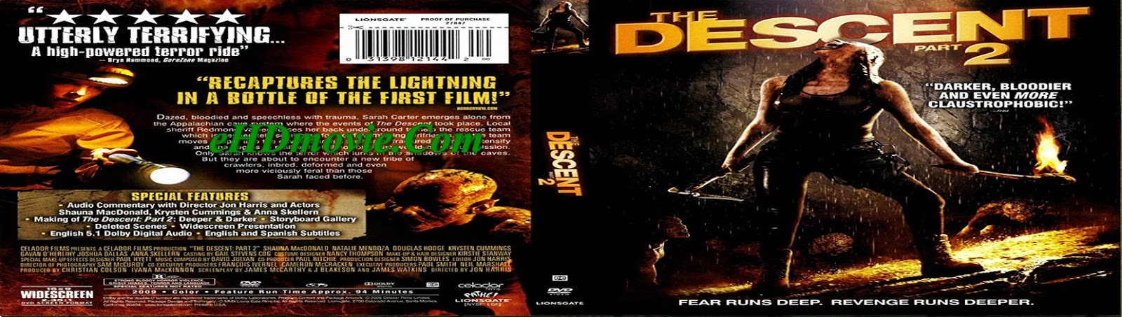 The Descent Part 2 2009 Full Movie Dual Audio [Hindi – English] 720p - 480p ORG BRRip 300MB - 600MB ESubs Free Download