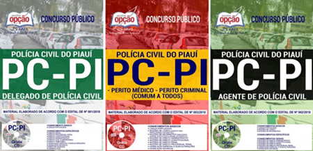 apostilas PC Piauí Perito, Agente de Polícia e Delegado