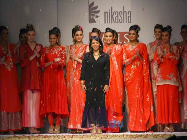 2014 fashion week saree