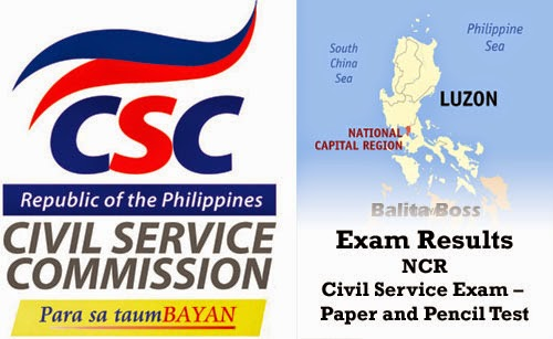 National Capital Region - Civil Service Exam Results