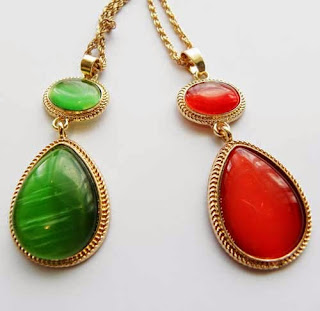 Witches of East End necklaces in red and green
