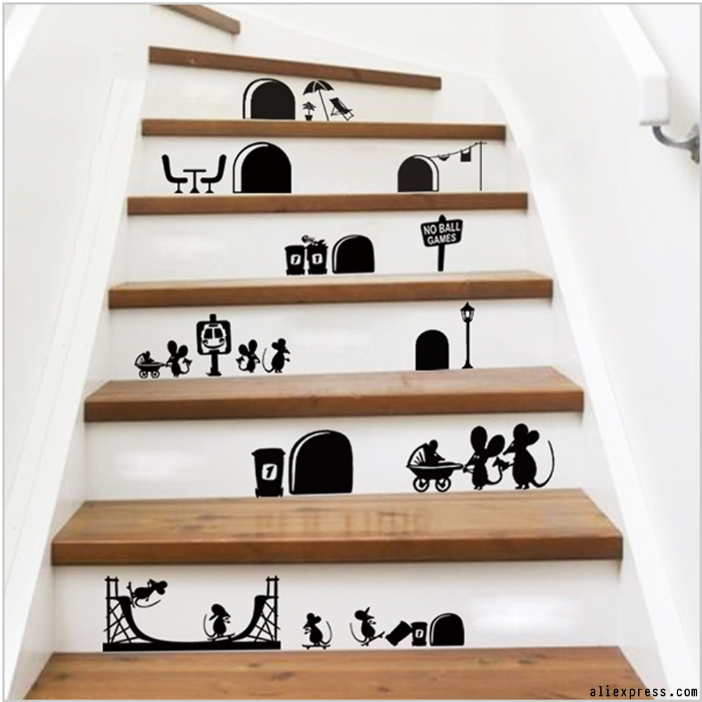 Stencil Stair Risers U2013 Stencils Are A Fun Way To Add Personality To A Wall  Without Breaking The Bank. Adding A Fine Detail Stencil Design To Stair  Risers ...