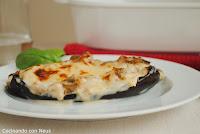 Berenjenas rellenas de carne y verduras con thermomix