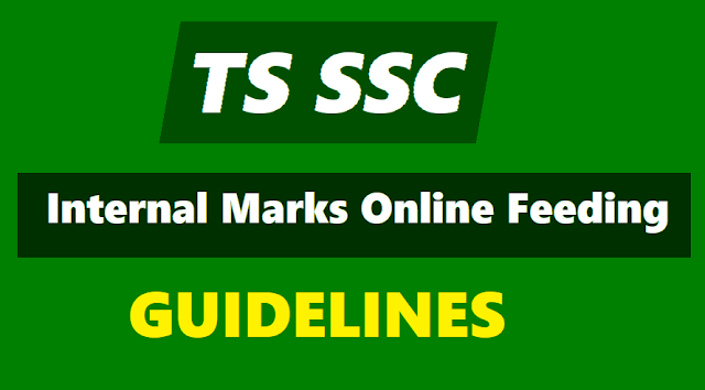 ts ssc internal marks online feeding at bsetelangana.org,instructions,guidelines,procedure for working out the formative tests fas marks,co-curricular tests,online feeding of internal marks
