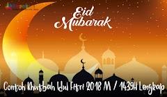Contoh Khutbah Idul Fitri 2018 M / 1439H Lengkap