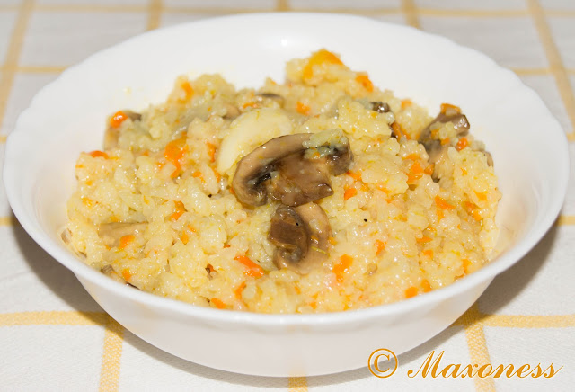 Постный рис с шампиньонами
