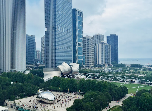 View of Cloud Gate from Cindy's Rooftop