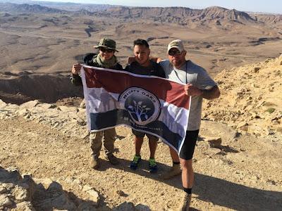 Mighty Oaks Warrior Program Flag in Israel | Banners.com
