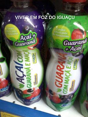 Ô dúvida cruel: compro Guaraná com maçã e açaí ou Açaí com guaraná e maçã