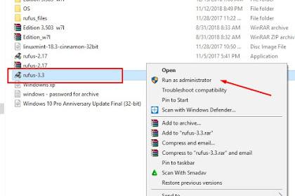 Cara Membuat Bootable Flasdisk Windows 7, 8 , dan 10 Dengan Rufus