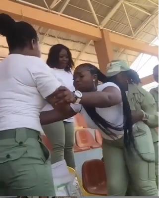 Ekiti Corps Member Fight Over Seniority (VIDEO)