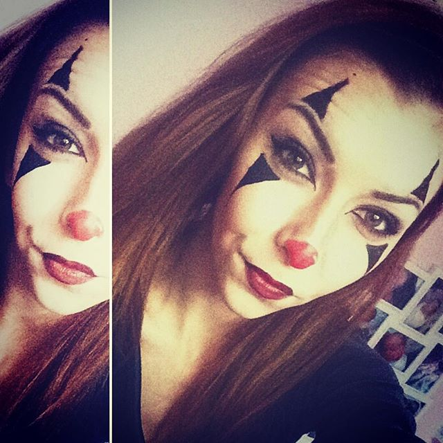 halloween clown make up