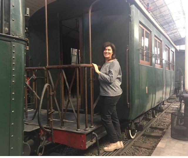 Treno del padiglione ferroviario nel Museo della Scienza e tecnologia