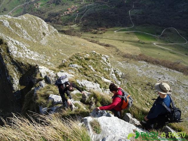 Ruta a la Pica de Peñamellera: Tramos aéreos