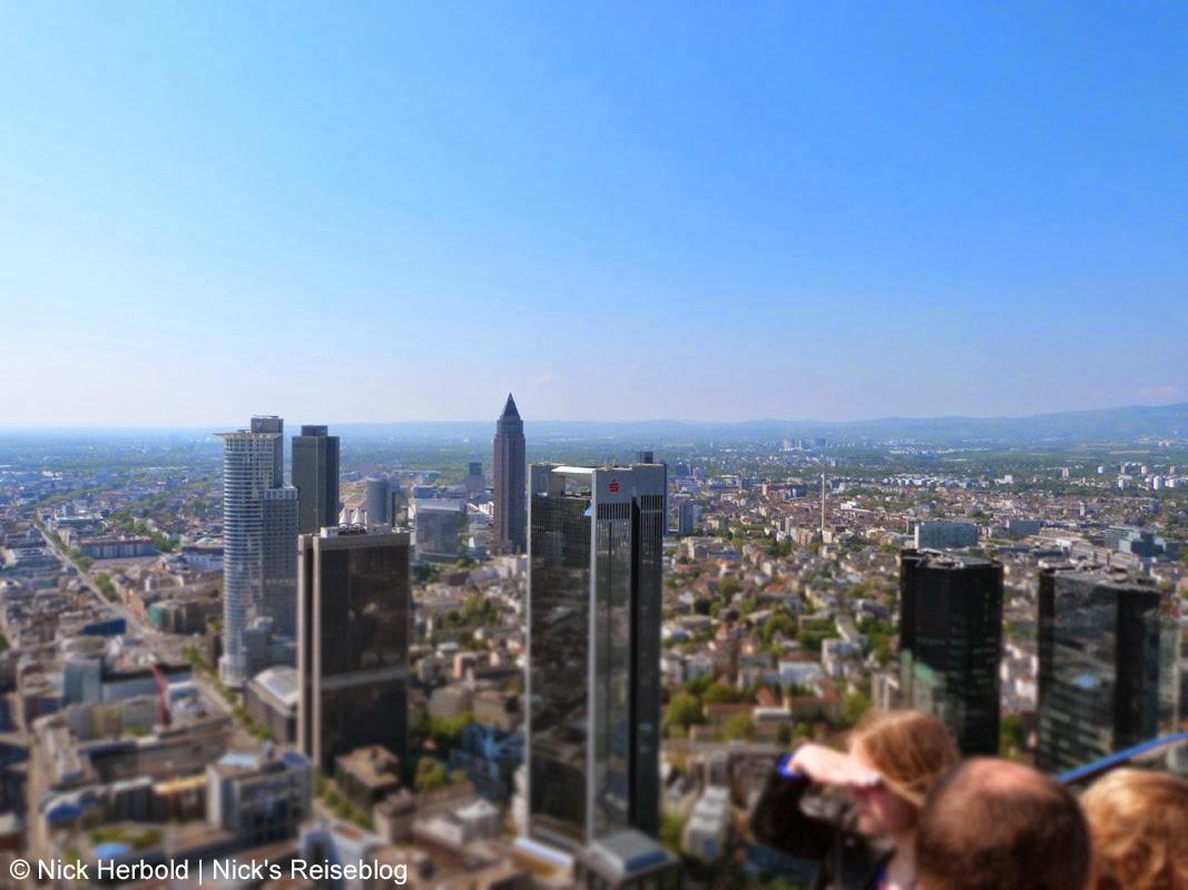 Main Tower Blick auf die WolkenkratzerFrankfurt am Main