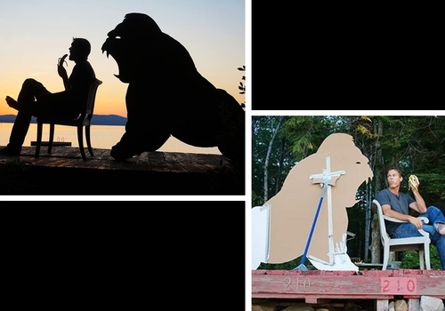 00-John-Marshall-Sunset-Selfie-Photographs-with-Cardboard-Cutouts-www-designstack-co