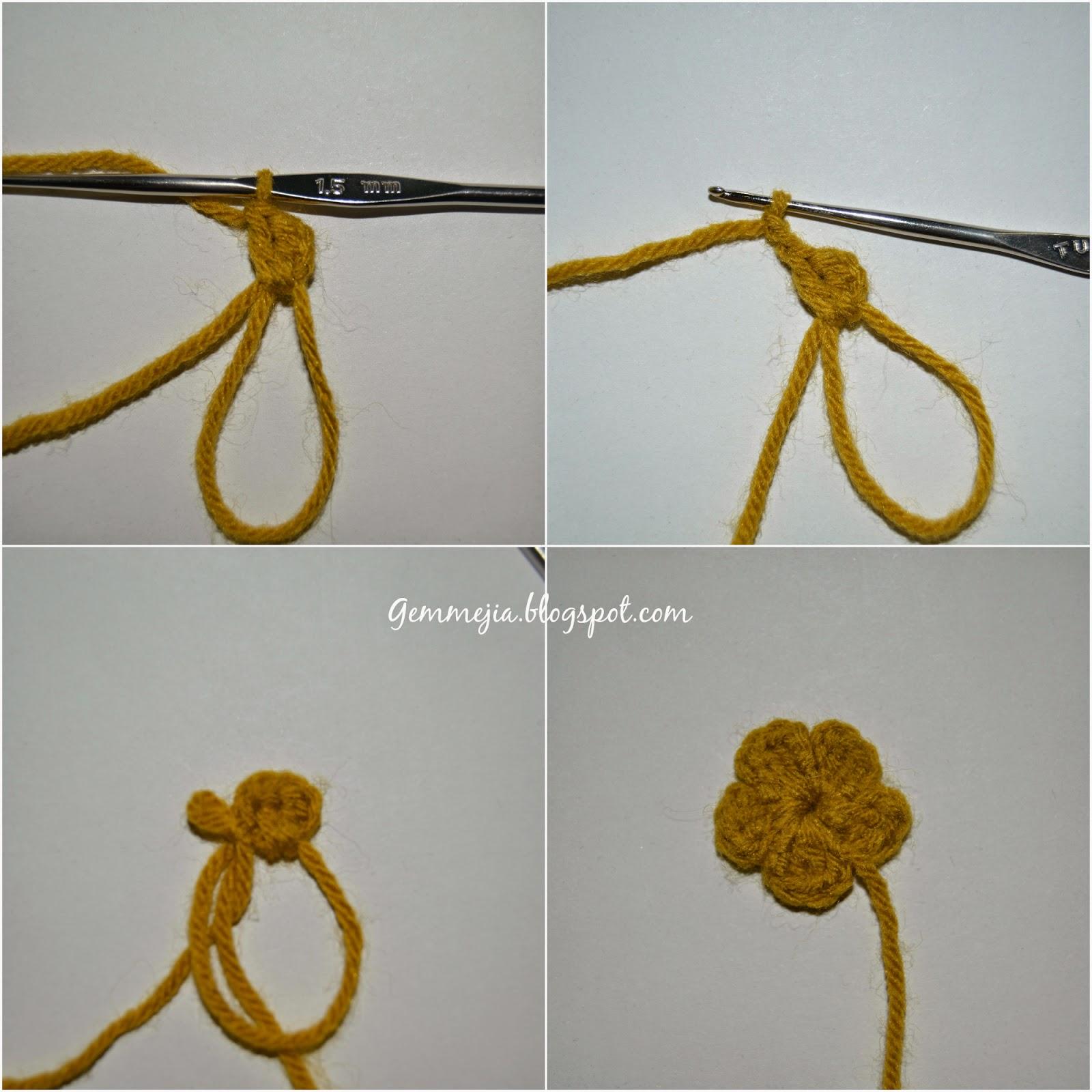 Flower crochet, flower embellishments