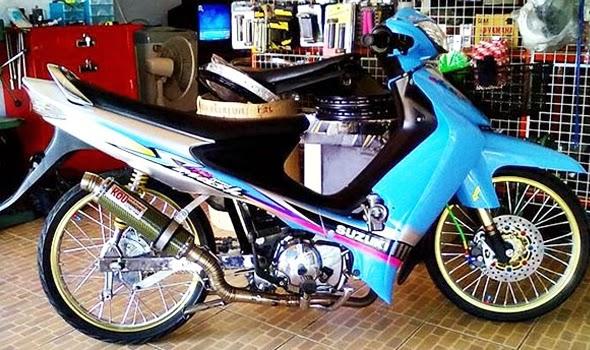 Modifikasi Suzuki Smash New Titan Racing Drag Simpel
