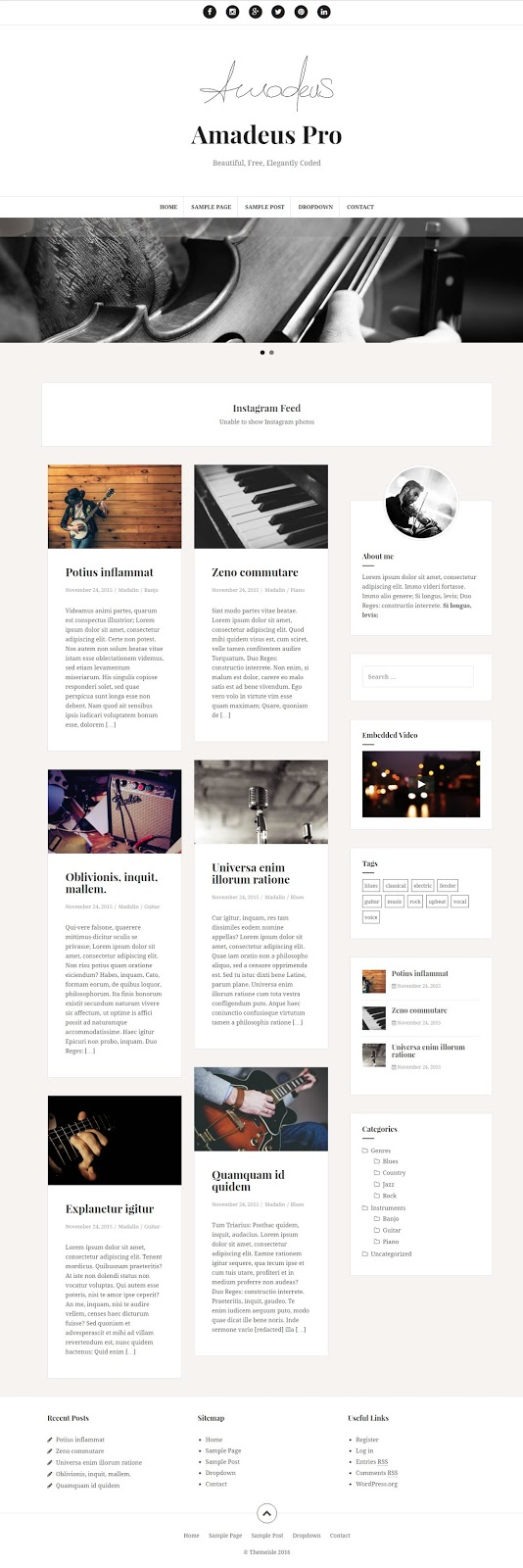 Professional Grid Based blogging Wordpress Theme