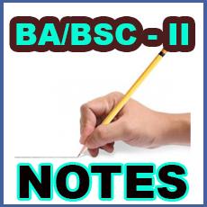 BA/BSc Part II Notes
