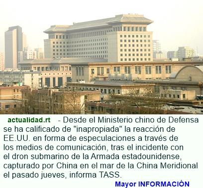 CAPTURA DE UN DRON ESTADOUNIDENSE Y LA RECLAMACION ENTRE CHINA Y EE.UU.