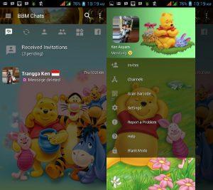 BBM MOD Tema Winne The Pooh v3.3.0.16 APK Versi Terbaru