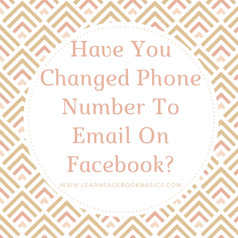 How Do I Change Email On Facebook