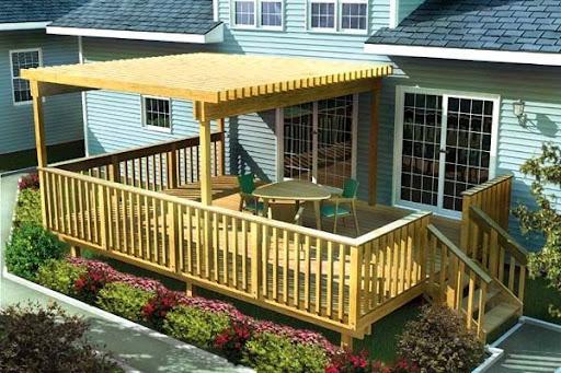 Brilliant idea for a backyard deck and patio design