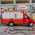 Miniatura Ambulância Bombeiros RJ na caixa de acrílico