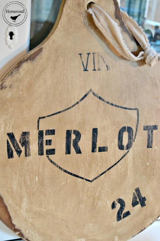 wine label cutting board