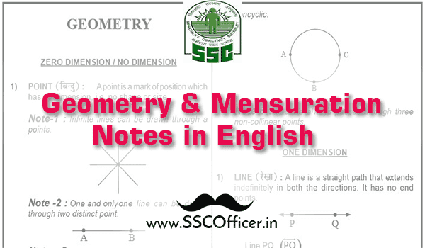 Geometry and Mensuration Notes for SSC [English Medium]-SSC Officer