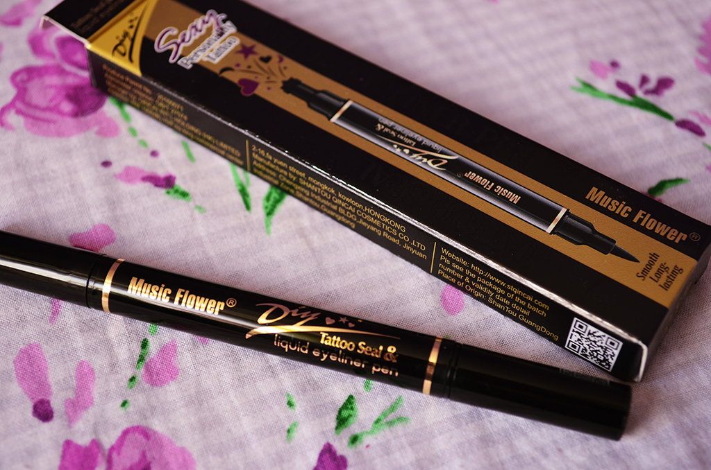 music flower DIY Tatoo Seal Liquid Eyeliner Pen