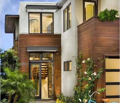 Fachadas de casas dise o de fachadas - Imitacion madera para fachadas ...