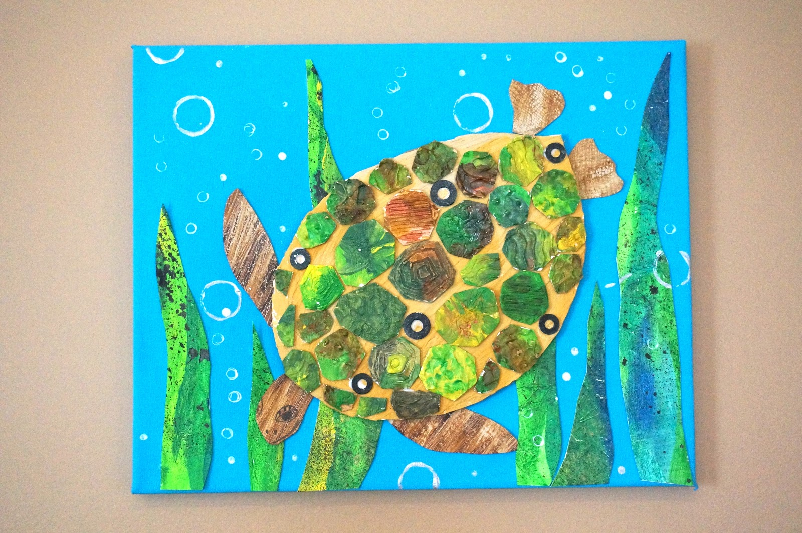 that artist woman: Mixed Media Turtle
