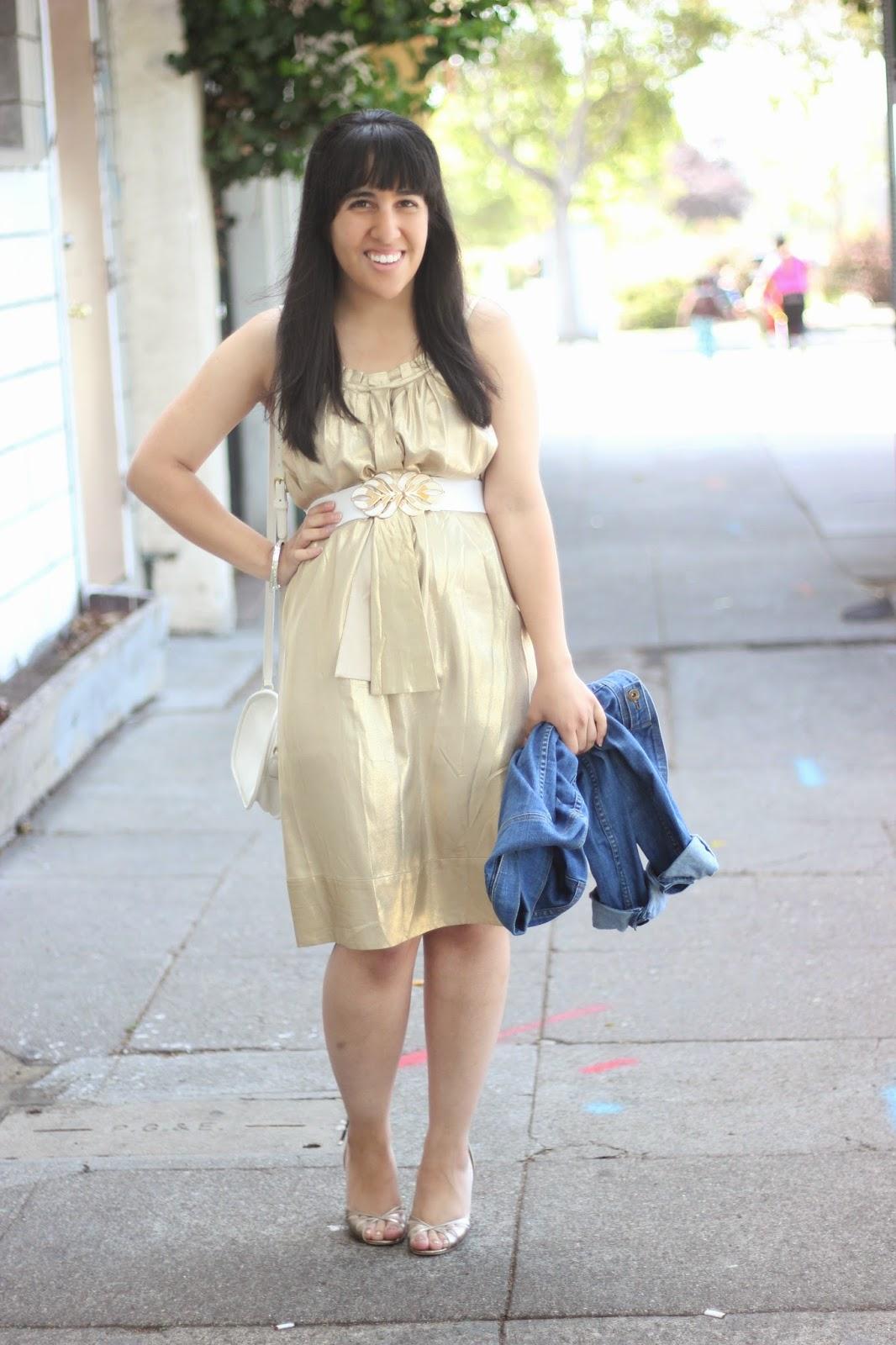 DVF Gold Elicia Dress